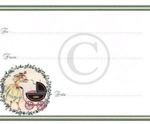 baby quilt labels pre printed