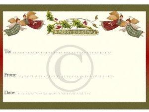 Christmas label patchwork quilt label