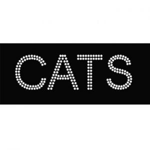 Sport Team iron on crystals CATS