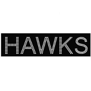 Hawks Sport Team iron on crystals