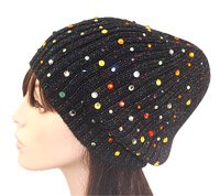 crystals-iron on-beanie-hat