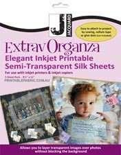 Jacquard ExtravOrganza Inkjet Organza Fabric 5pk