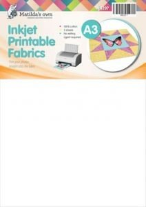Matilda's Own inkjet printable fabric sheets LARGE A3