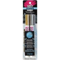 Tulip Fabric Markers Gold +Silver Twin Pk