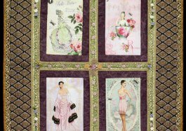 vintage ladies photo quilt