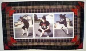 Daniel the skateboarding wall hanging