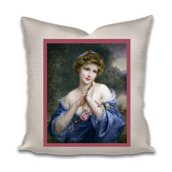 embroidery picture pre printed lady no2