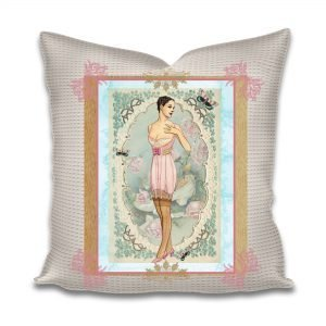 Printable fabric cotton cushion using French CD rom
