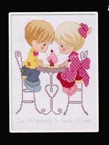Counted Cross Stitch - Soda-licious Friendship