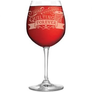 Wine glass Quilting Forever