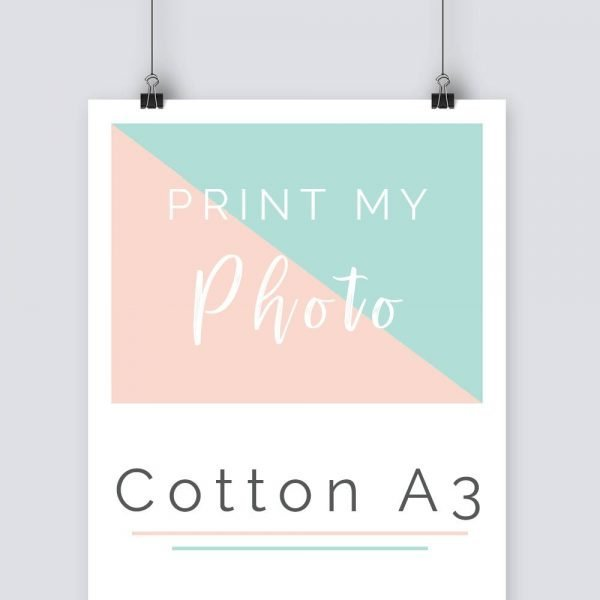 print my photo A3 cotton fabric sheets