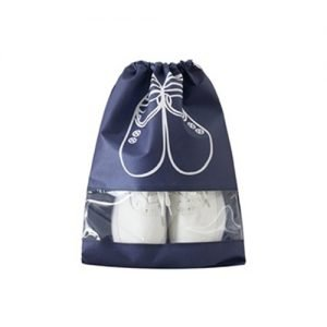 Navy Blue Dustproof Laundry Shoe Bag Storage