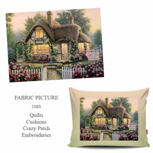 cottage embroidery picture