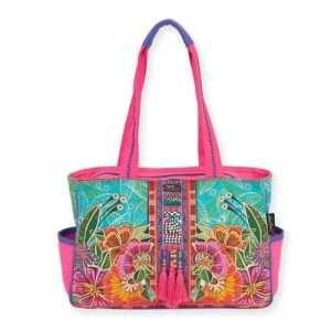 Designer Handbag Laurel Burch Flora Tote PINK