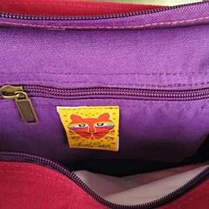 Designer Handbag Laurel Burch Tote Cats With Butterflies