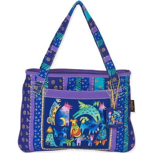 Laurel Burch Tote Mythical Dogs