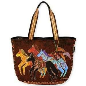 Designer Handbag Laurel Burch Large Native Horses