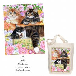 Three cats garden picture