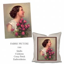 embroidery pictures lady no8