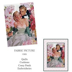 embroidery picture romantic couple