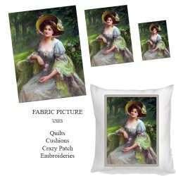 vintage lady no 11 on fabric