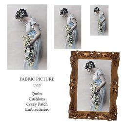 Vintage Lady No.10 Fabric Panel