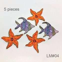 beach fish lace motif