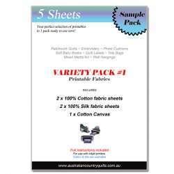 5pc Printable Fabrics Variety Pack #1