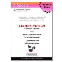 5pc Printable Fabrics Variety Pack 2