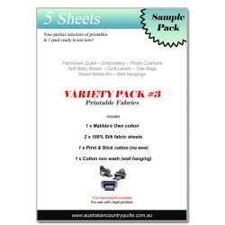 Printable Fabric Variety Pack cotton - silk - print n stick