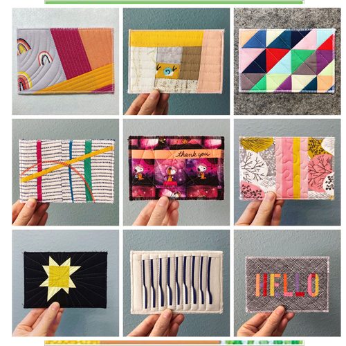 fabric postcards examples