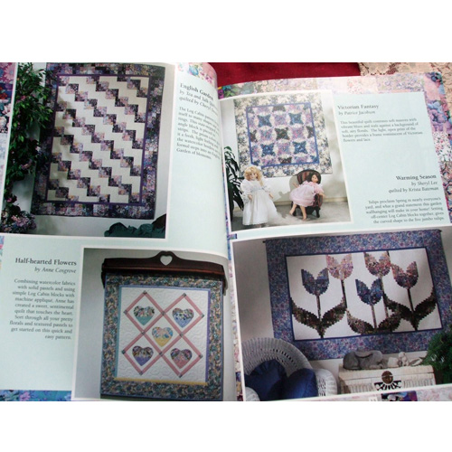 watercolour log cabin quilt projects