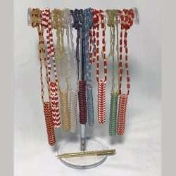 Beaded Necklace Pen Holder Handmade