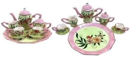 Pink & Green Vintage tea set
