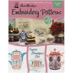 Aunt Martha's Tea Time Embroidery Designs 413 - AUSTRALIA