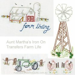 Aunt Marthas Farm Living Transfer Embroidery book AU