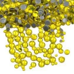 citrine yellow iron on crystals hotfix