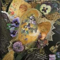 Jenny Haskins Silk Print Pansies Heart example