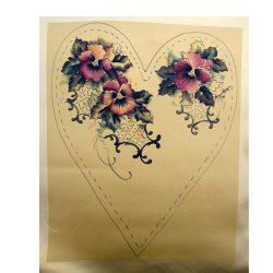 Jenny Haskins silk print pansies heart